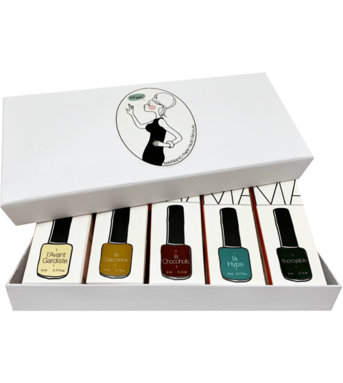 coffret 5 vernis semi permanent green