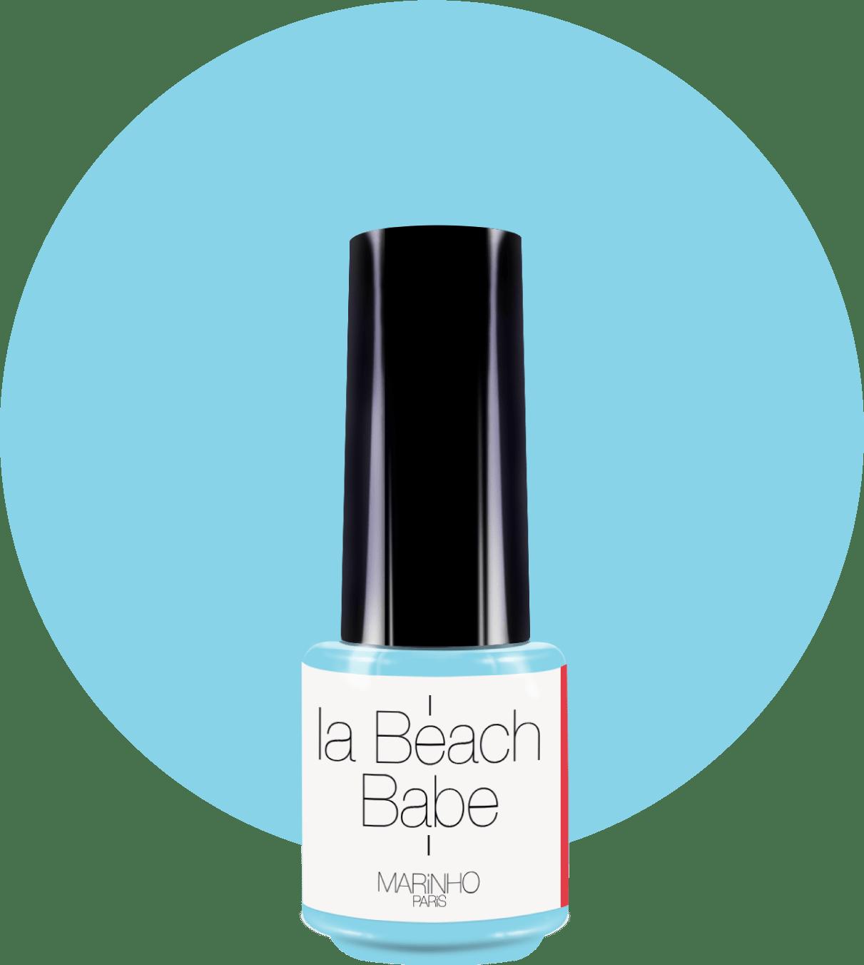 vernis semi-permanent bleu clair marinho paris sur rond bleu clair