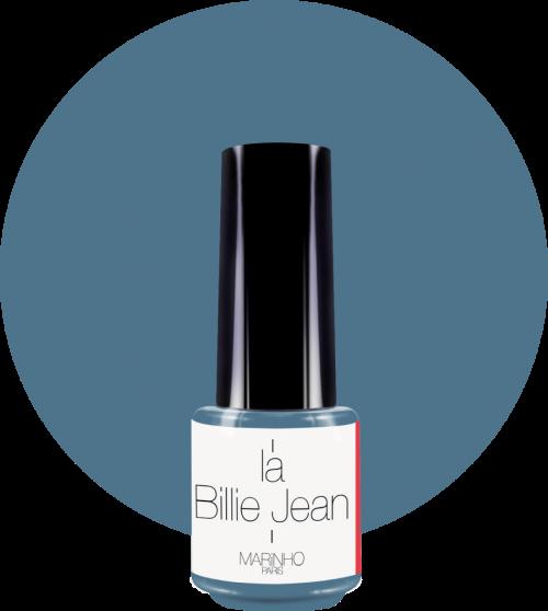 vernis semi-permanent bleu jean marinho paris sur rond bleu jean