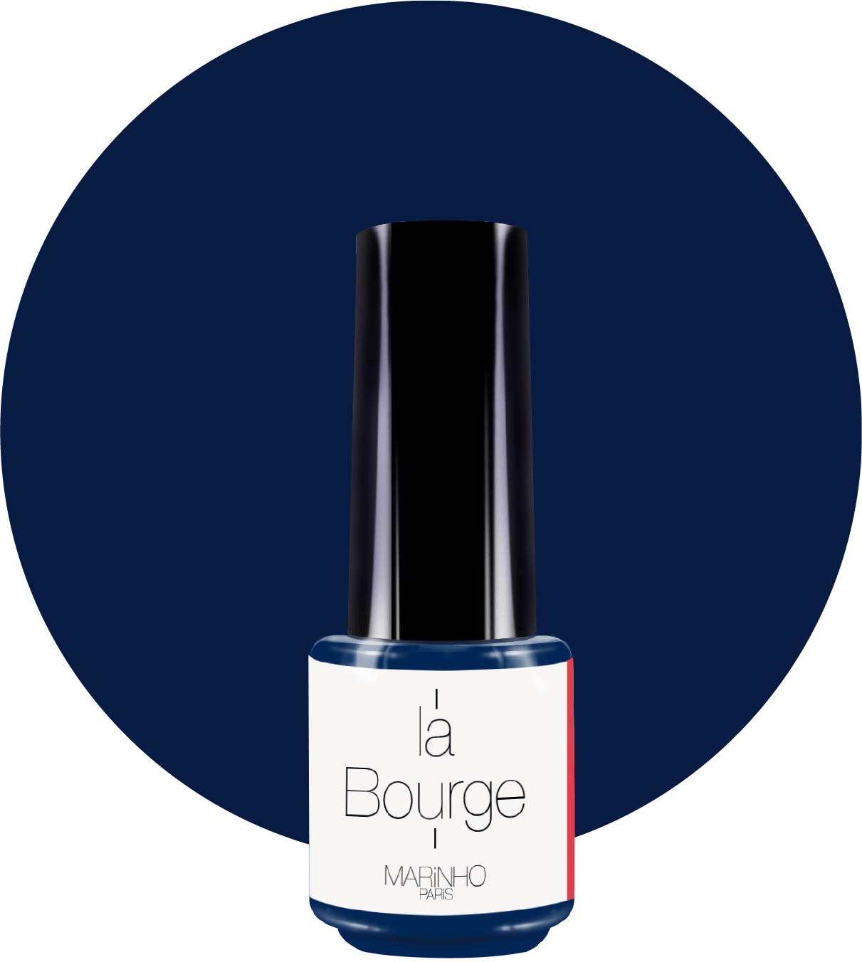 bouteille de vernis bleu marine