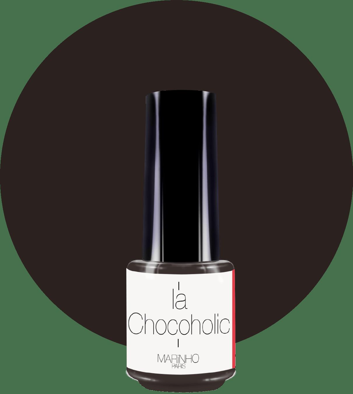 bouteille de vernis à ongle marron chocolat