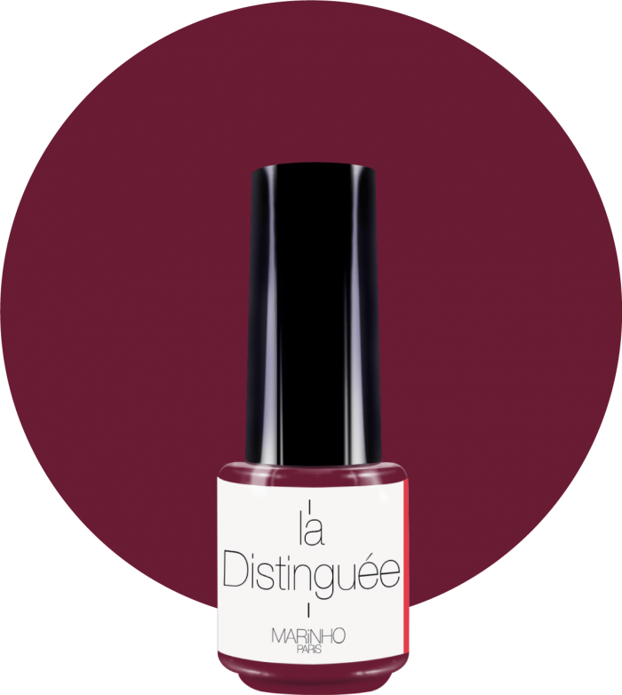 vernis semi-permanent bordeau marinho paris sur rond bordeau