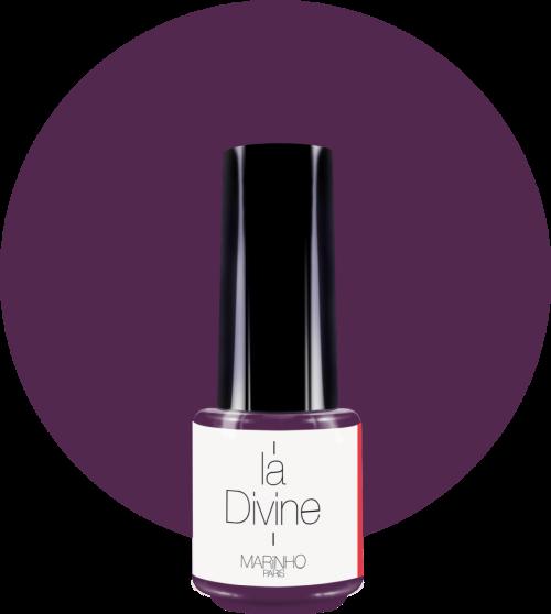 vernis semi-permanent violet marinho paris sur rond violet