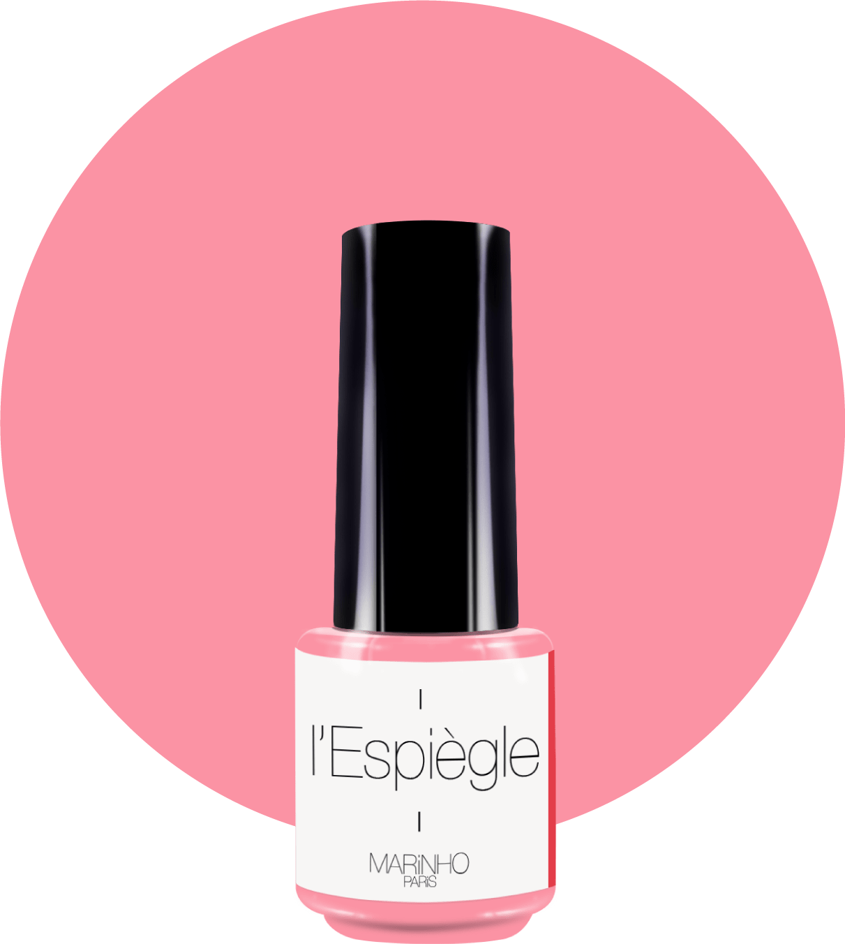 vernis semi-permanent rose marinho paris sur rond rose