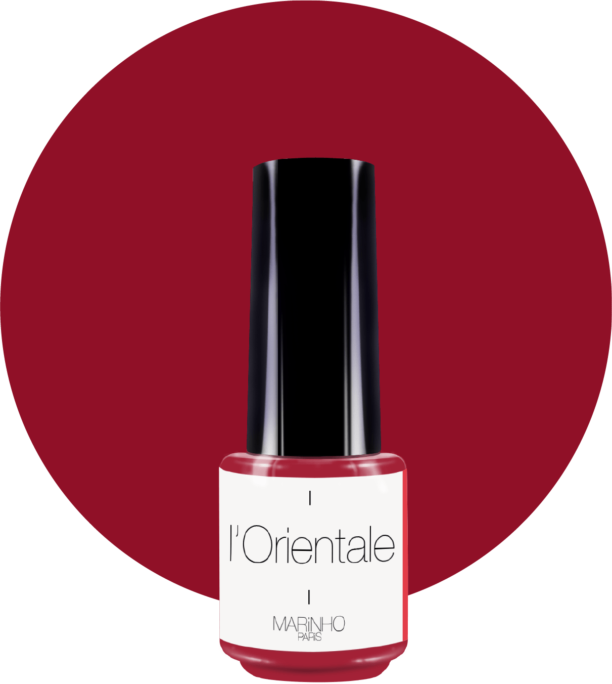 vernis semi-permanent rouge brun