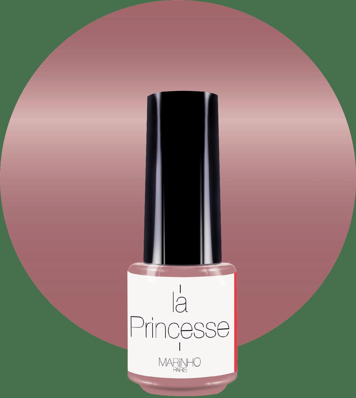 vernis à ongle rose pailleté