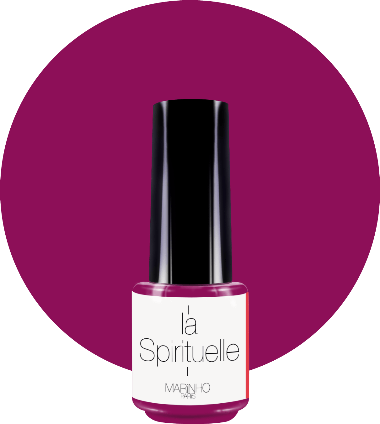 vernis semi-permanent couleur fruits rouges marinho paris sur rond couleur fruits rouge
