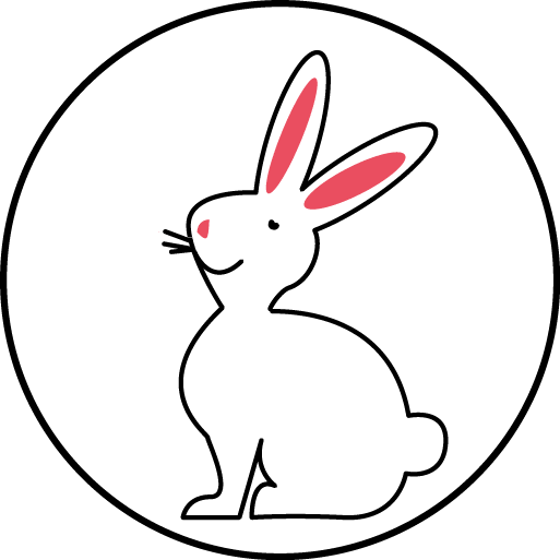 logo cruelty free marinho paris illustration lapin