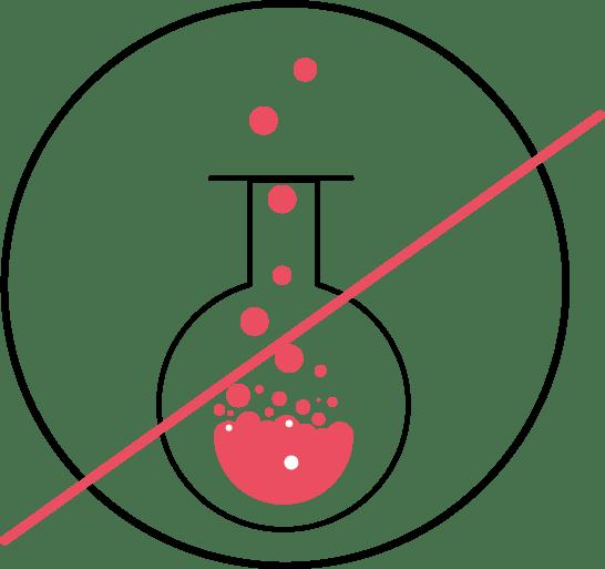 logo sans acide sans solvant marinho paris illustration ballon chimie avec liquide qui boue