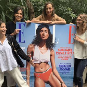 équipe marinho paris autour de la couverture du magazine ELLE zen eté 2019
