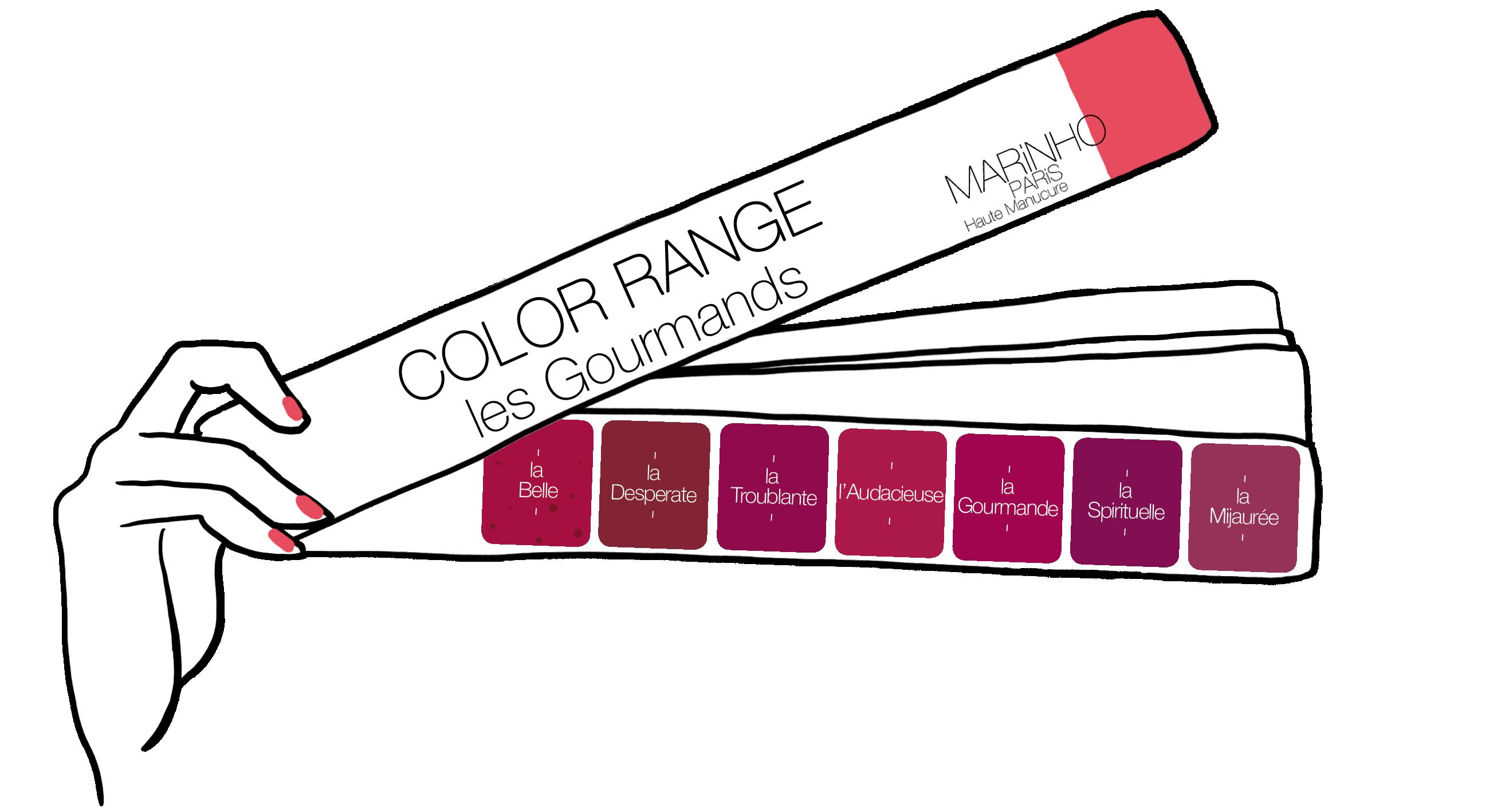 gamme couleur vernis à ongles marinho paris nuances de rouge nuances de rose
