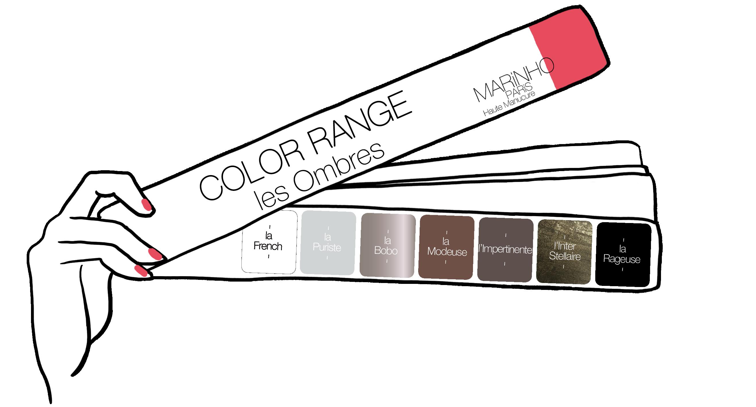 gamme couleur vernis à ongles marinho paris nuances de gris